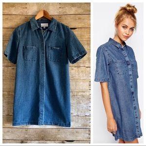 ✨Kendall + Kylie✨Denim Shirt Dress